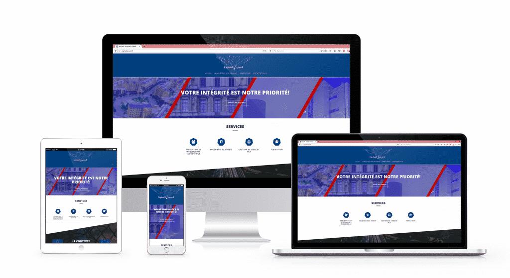 Création du webdesign pour le site web de Raphaël Conseil