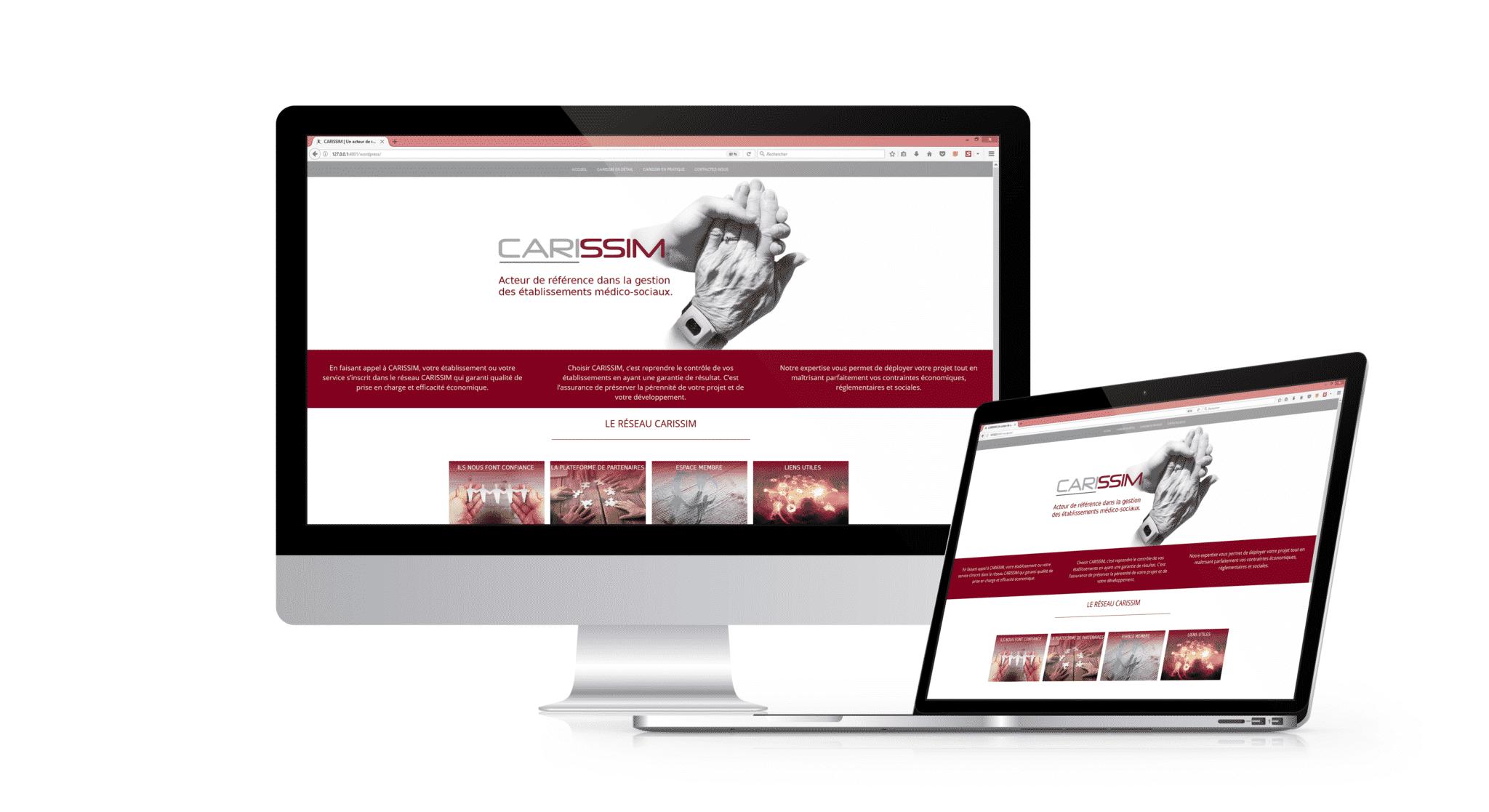 Création d'un site web, intranet/extranet chez Carissim