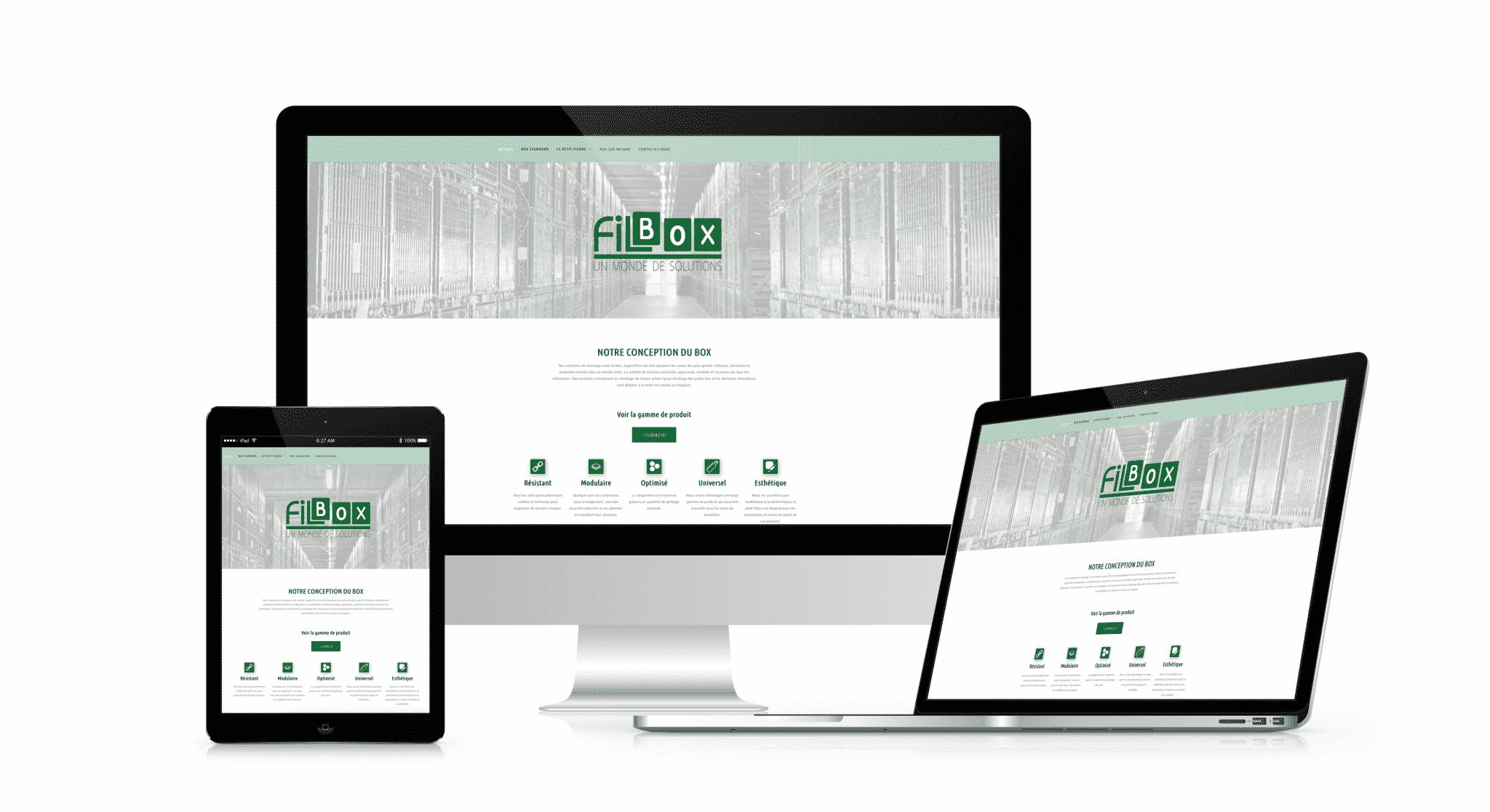 Nouveau site internet pour l'entreprise Filbox.