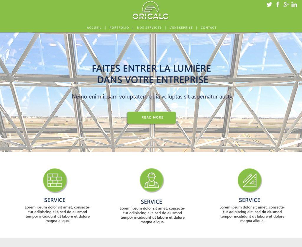 Un site internet pour l'entreprise Oricalc