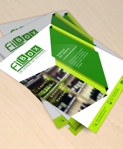 Création de Flyers pour l'entreprise Filbox
